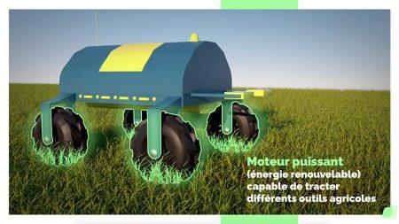 Arvalis – Animation vidéo 3D d'un robot agricole