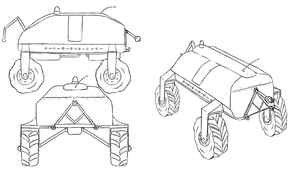 Arvalis dessin robot pour animation 3D