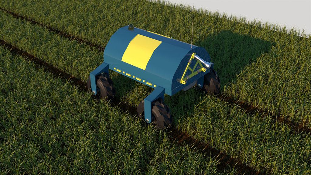 Arvalis robot agricole autonome dans un champ