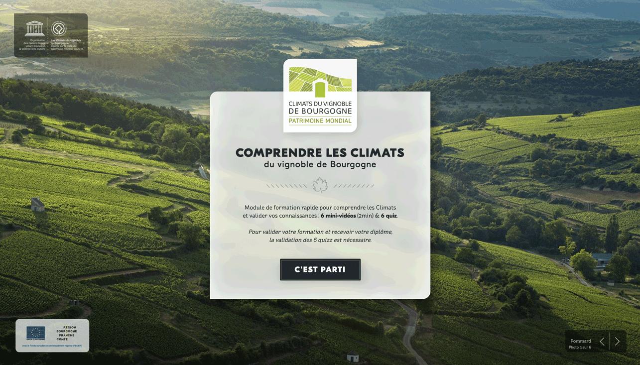 E-formation climats de bourgogne