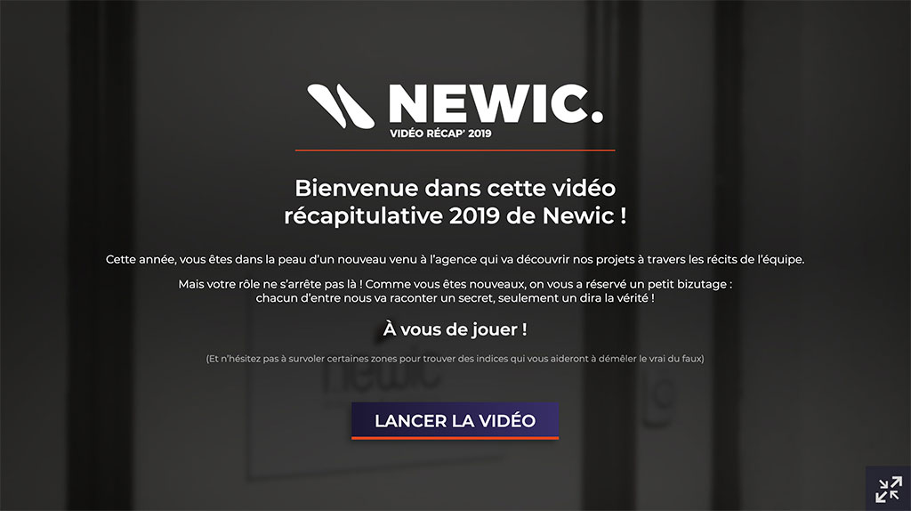 Experience video interactive
